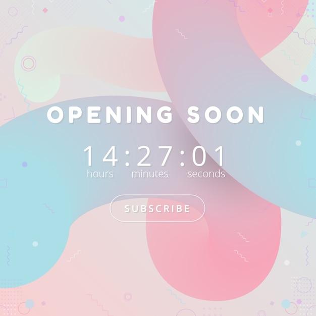 Opening soon Premium Vector