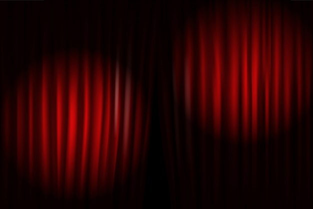 Stage Curtain Opening Vector