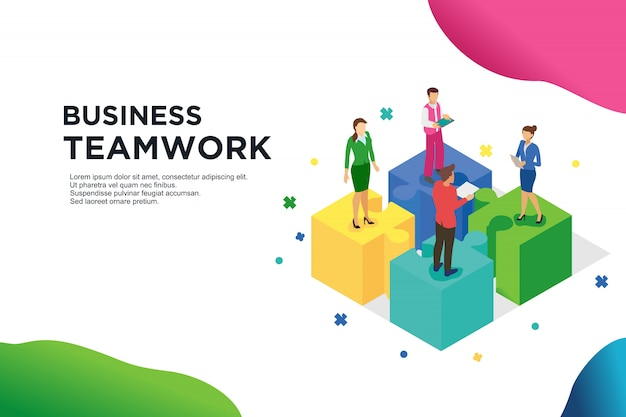 Operation construction by agency group to create a team Premium Vector