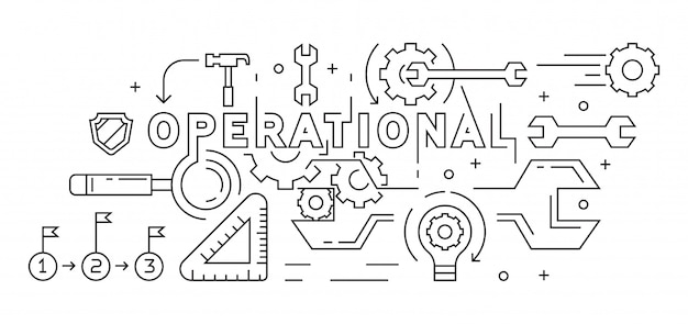 Operational illustration Premium Vector