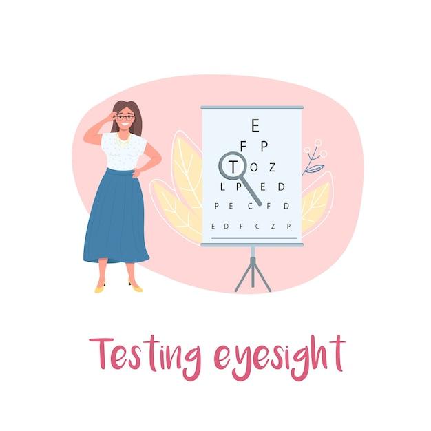 Ophthalmology 2d web banner Premium Vector