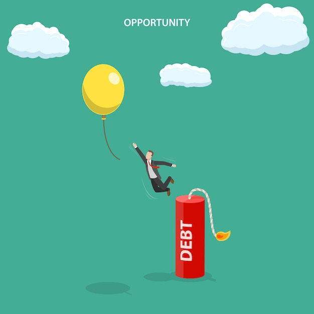 Opportunity isometric flat vector illustration. Premium Vector