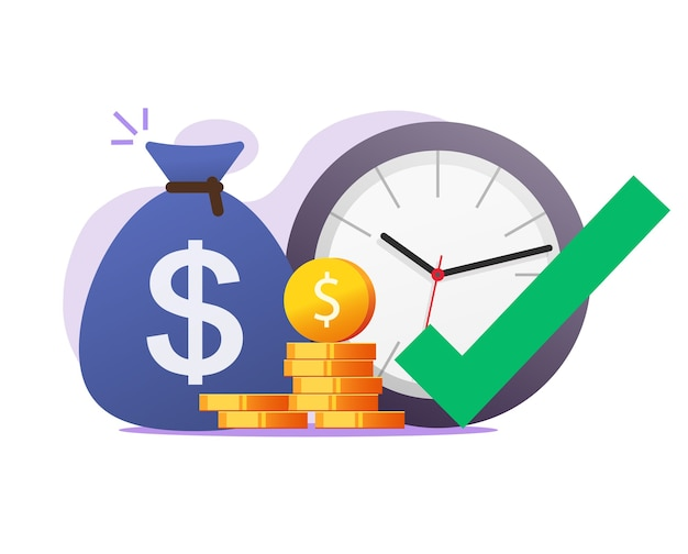 Opportunity right time moment to make or earn money vector concept Premium Vector
