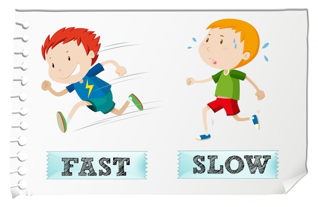 opposite adjectives with fast and slow vector free download boy running clipart boy running fast clipart
