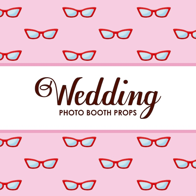Optical eyeglasses icon pattern Free Vector