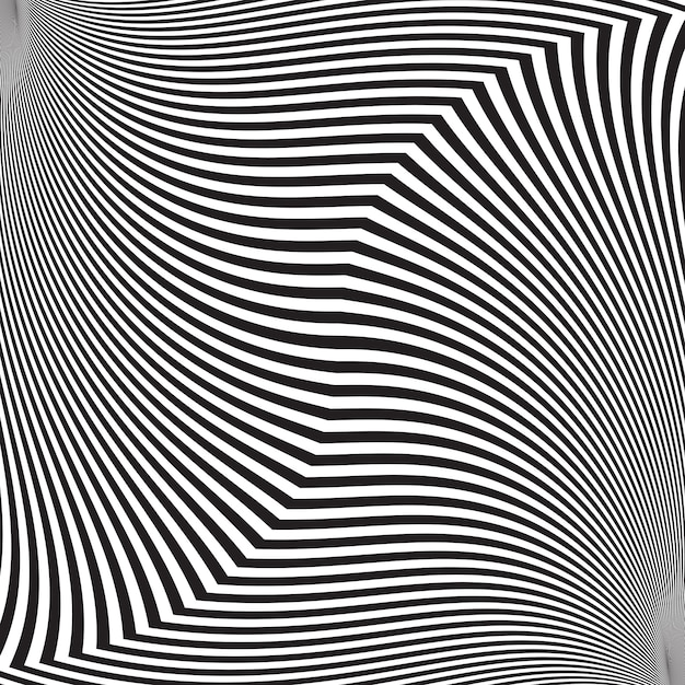 Optical illusion, abstract twisted background Premium Vector