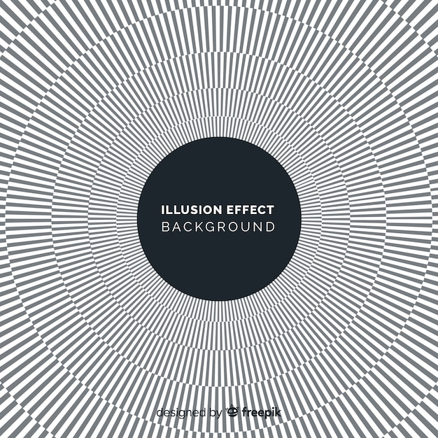 Optical illusion effect background Free Vector
