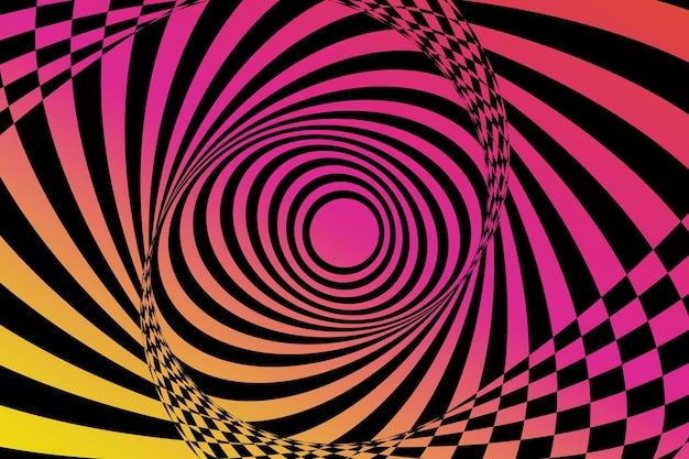 Optical illusion wallpaper Premium Vector