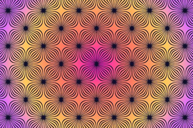 Optical illusion wallpaper Free Vector
