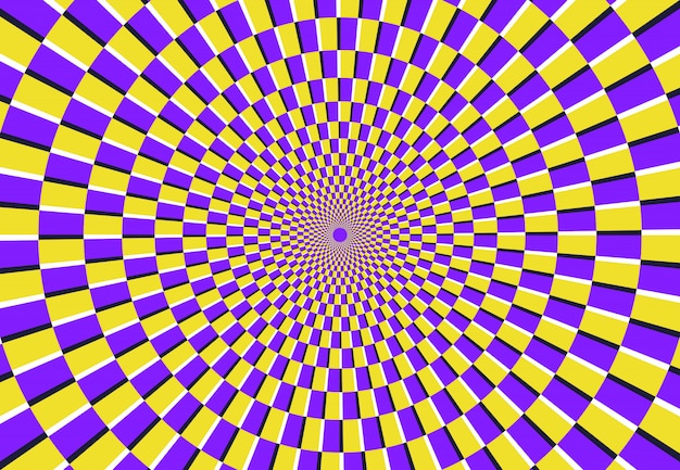 Optical spiral illusion. magic psychedelic pattern, swirl illusions and hypnotic abstract background vector illustration Premium Vector