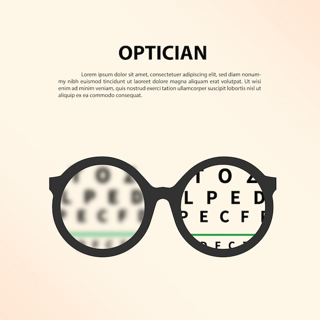 Optician concept. Premium Vector