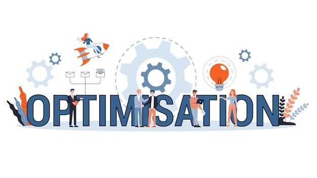Концепция оптимизации. идея улучшения и развития. технологии и интернет. починить и отремонтировать. набор красочных иконок. иллюстрация Premium векторы