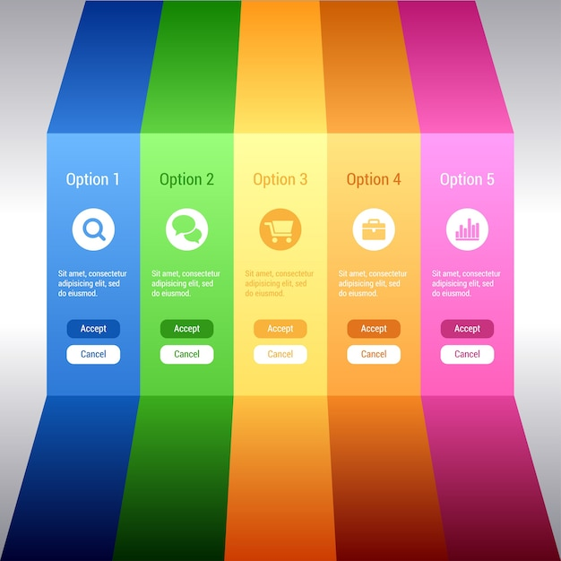 Option banners. minimal infographics. Premium Vector