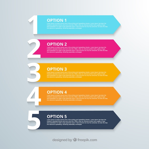 Options banners Free Vector