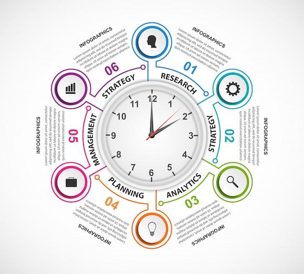 Options infographics elements Premium Vector