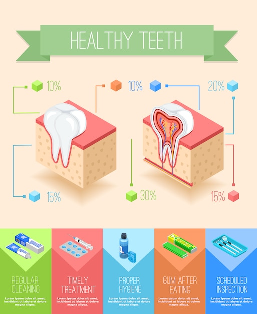 Oral care infographic poster Free Vector
