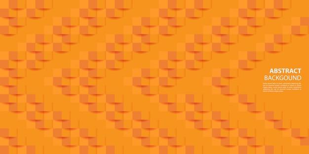 Orange 3d paper style background Premium Vector