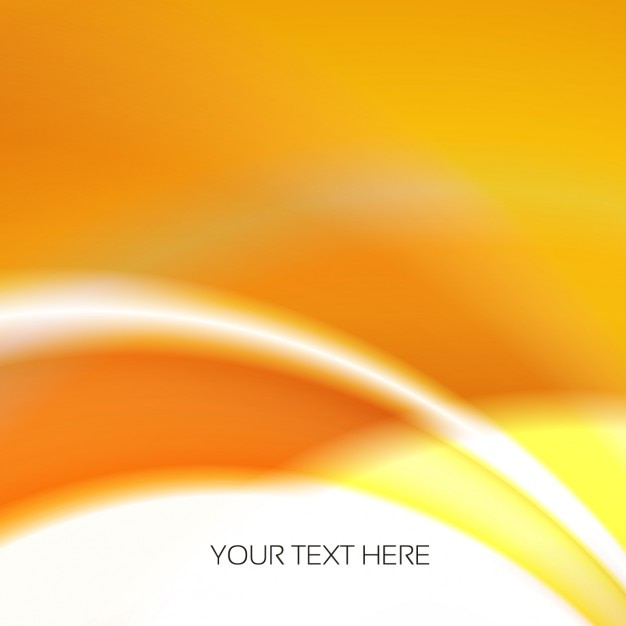 Orange abstract and wavy background Free Vector