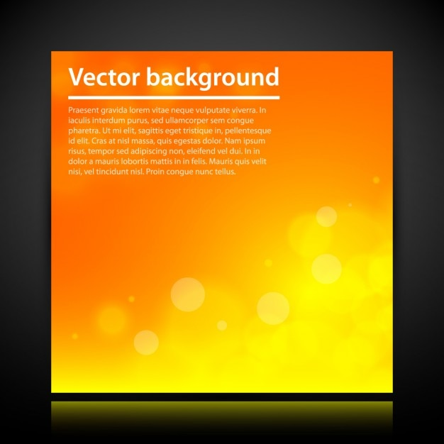 Orange Abstract Background Template