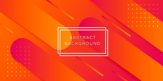 Orange abstract background Premium Vector