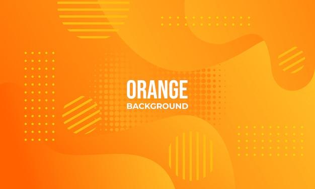 オレンジ色の抽象的な背景 Premiumベクター