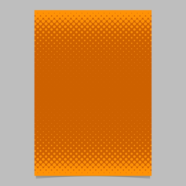 Orange Abstract Halftone Dot Pattern Brochure Template  Vector