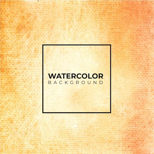 オレンジ色の抽象的な水彩テクスチャ背景 Premiumベクター