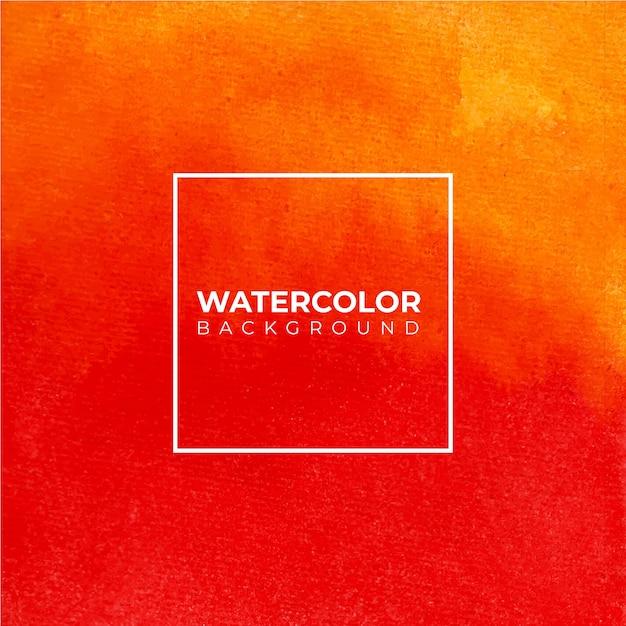Оранжевый абстрактный акварельный фон текстуры Premium векторы