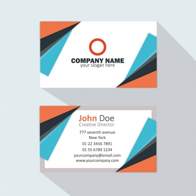 Orange and blue business card vector free download orange and blue business card free vector reheart Images