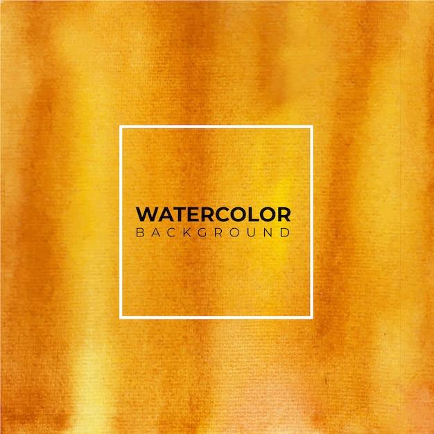 任意の目的のためのオレンジと茶色の水彩画の背景。抽象的な水彩画の背景。 Premiumベクター