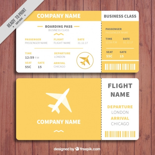 Orange And White Boarding Pass Template Vector | Free Download