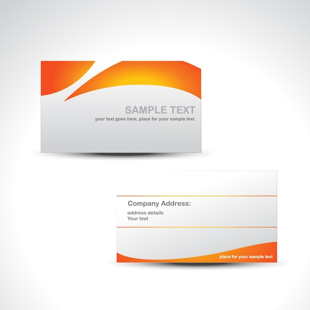 Orange and white business card template vector free download orange and white business card template free vector reheart Choice Image