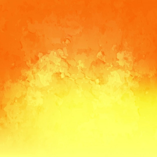 نارنجی و پس زمینه آبرنگ زرد