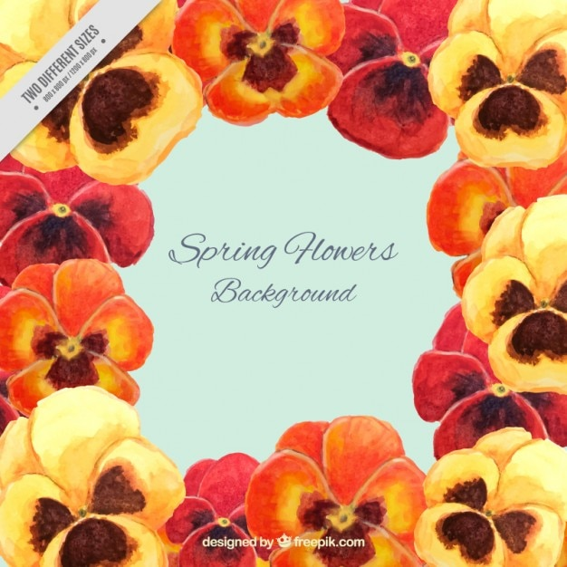 Orange and yellows flowers background