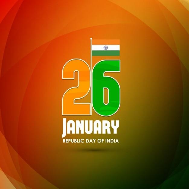 Orange background, republic day of india Free Vector