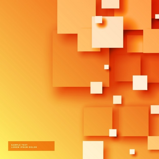 Orange Background With Squares Vector Free Download