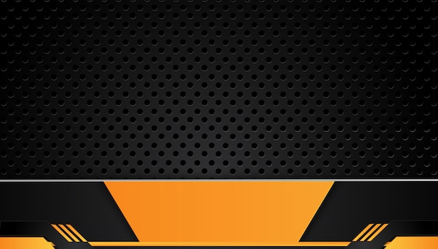 Orange And Black Abstract Business Background Vector
