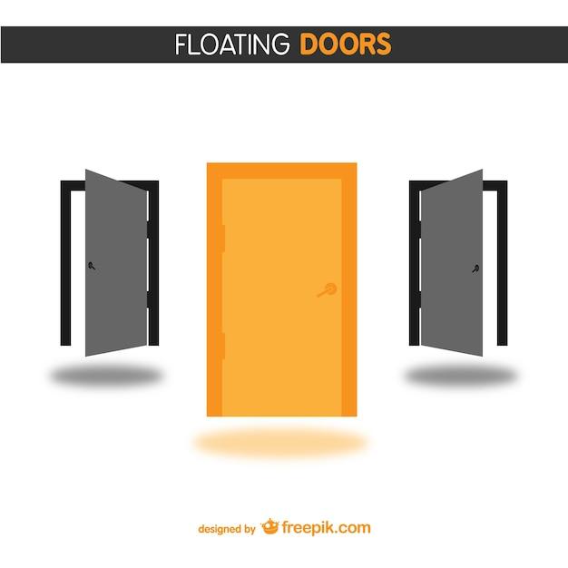 Orange and black doors Free Vector