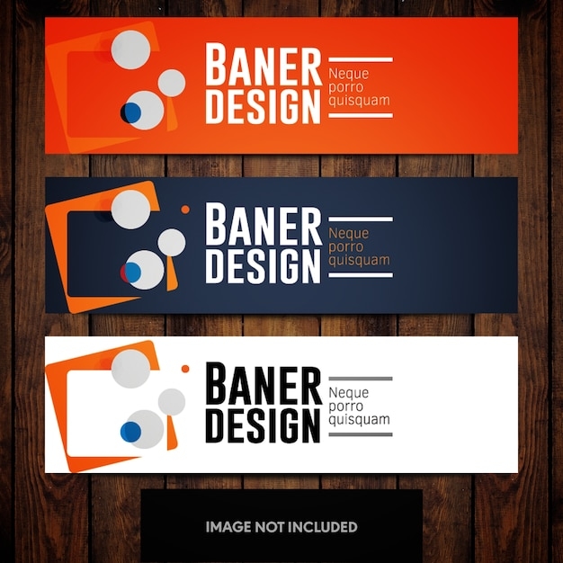 orange blue abstract banner template with white background vector