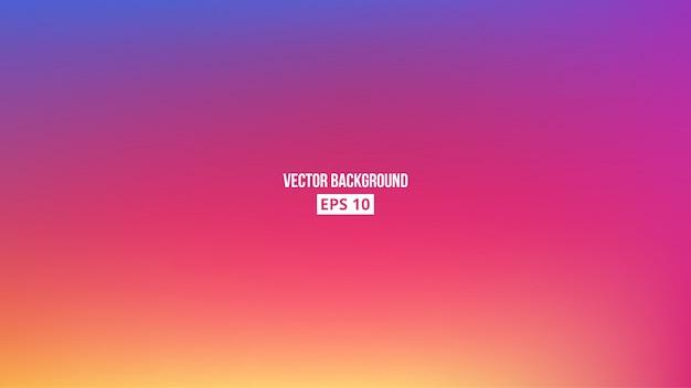 Orange, blue, purple, pink blur gradient. Premium Vector