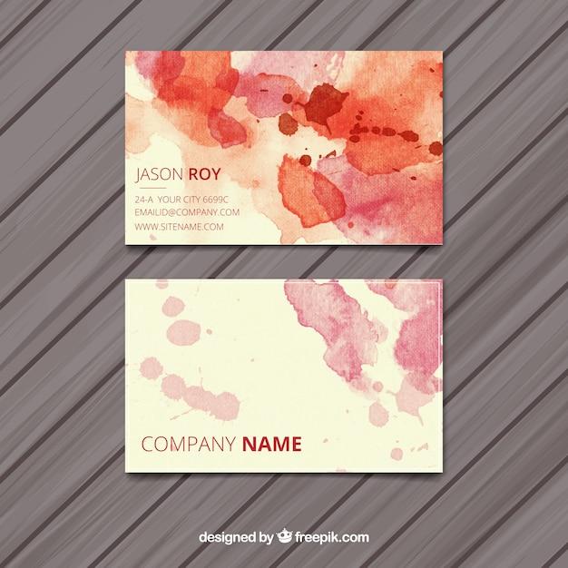 Watercolors Business Cards Elitadearest
