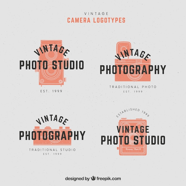 Orange camera logo collection