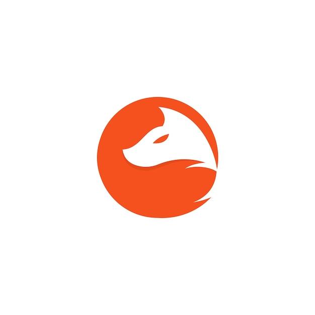 Orange Circle Fox Logo Premium Vector