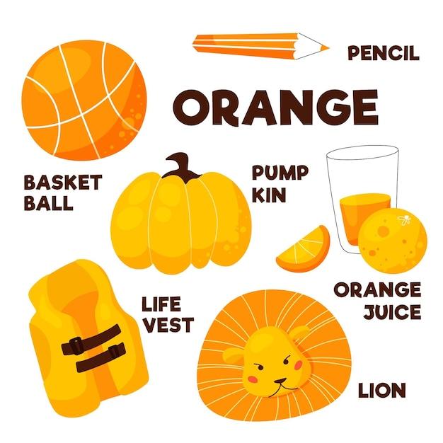 英語 オレンジ 色
