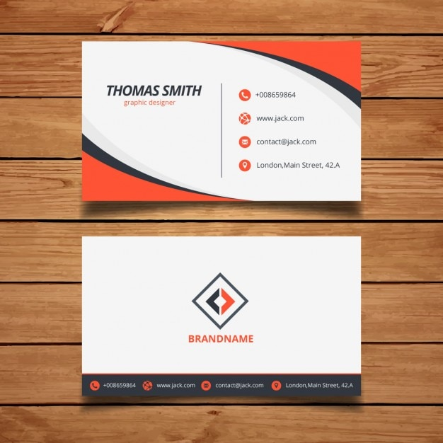 Orange Corporate Business Card Template Vector Free Download - Calling card template free download