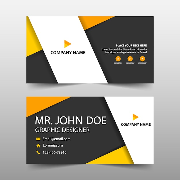 Orange corporate business card template Vector | Free Download