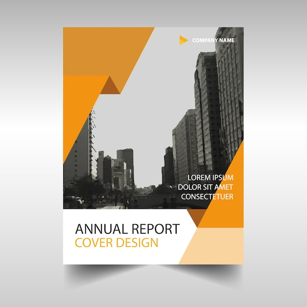 Orange Creative Annual Report Book Cover Template Free Vector  Annual Report Cover Template