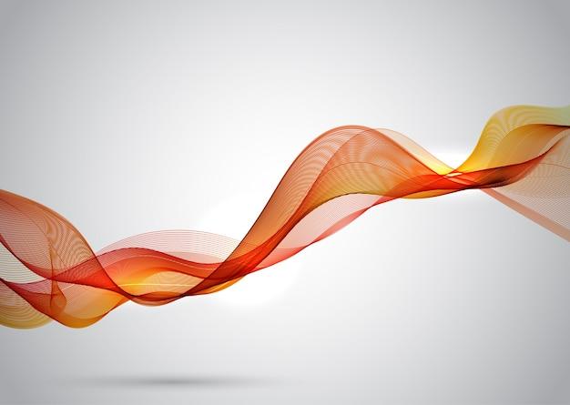 Orange elegant wave lines  Free Vector