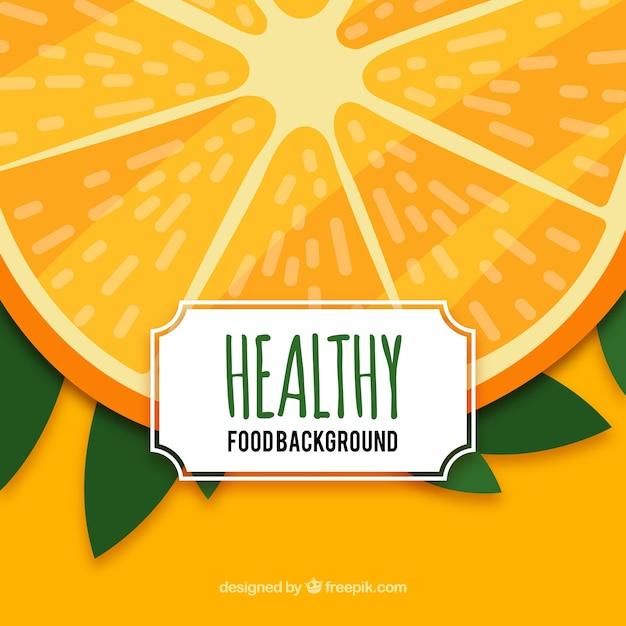 Orange fruit background Free Vector