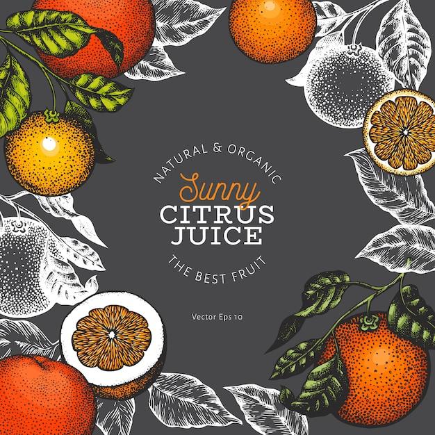 Orange fruit design template. Premium Vector